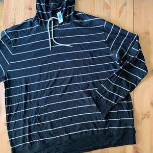 Old Navy Tops - Old Navy Black and Grey Stripes Lightweight Hoodie